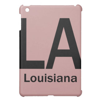 LA Louisiana  plain black iPad Mini Covers