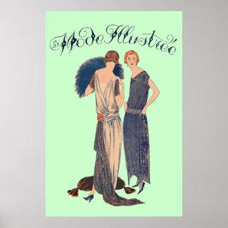 La mode illustrée (Magazine français 1922) Poster