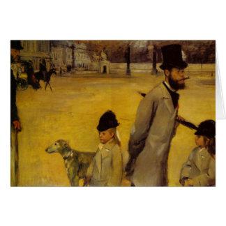 La Place de la Concorde - Edgar Degas Card
