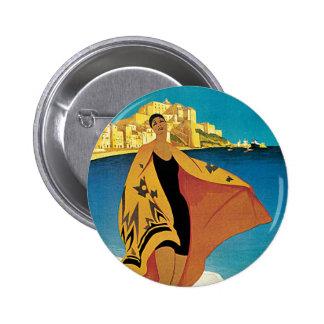 La Plage de Calvi, Corse 6 Cm Round Badge