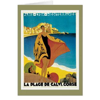 La Plage De Calvi Corse France Greeting Card