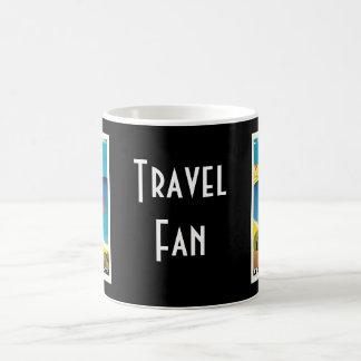 La Plage de Calvi Vintage France Travel Art Basic White Mug