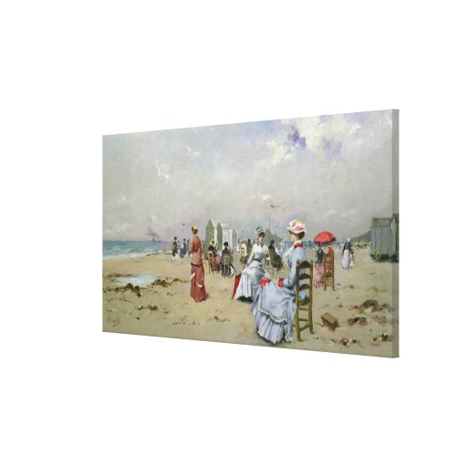 La Plage de Trouville Gallery Wrapped Canvas