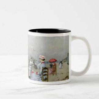 La Plage de Trouville Two-Tone Coffee Mug