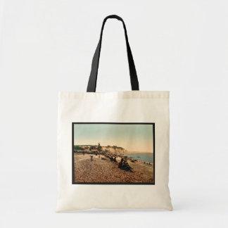 La plage et le casino, Dieppe, France vintage Phot Tote Bags