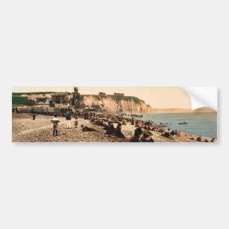 La plage et le casino, Dieppe, France vintage Phot Bumper Stickers