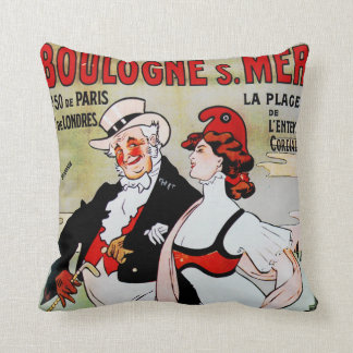 La Plage, Paris Throw Pillow