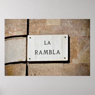 La Rambla Barcelona Spain Poster