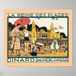 La Reines Des Plages (border) Print