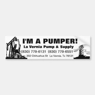La Vernia Pump Car Bumper Sticker