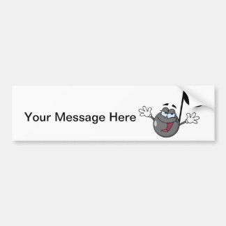 Laaaaaaaa The Music Note Bumper Sticker