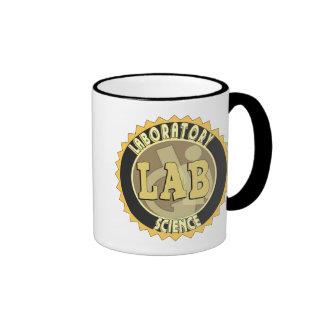 LAB BADGE LABORATORY SCIENCE RINGER MUG