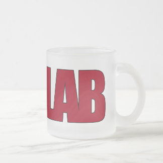 LAB BIG RED LETTERS LABORATORY FROSTED GLASS MUG