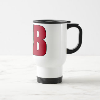 LAB BIG RED LETTERS LABORATORY STAINLESS STEEL TRAVEL MUG