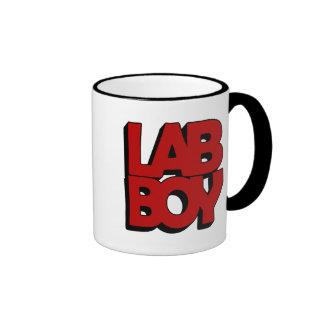 LAB BOY BIG RED LABORATORY RINGER COFFEE MUG