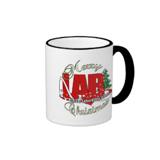 LAB CHRISTMAS CLINICAL LABORATORY SCIENCE RINGER MUG