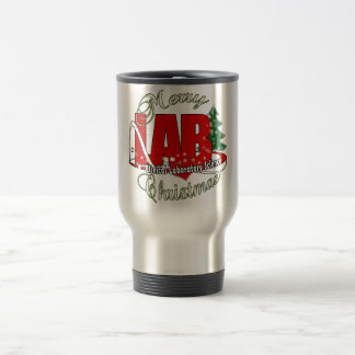 LAB CHRISTMAS CLINICAL LABORATORY SCIENCE STAINLESS STEEL TRAVEL MUG