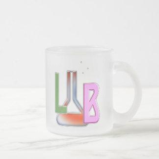LAB FLASK LOGO LABORATORY FROSTED GLASS MUG