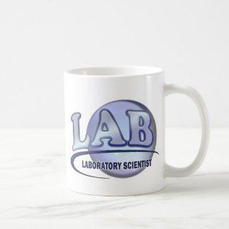 LAB - LABORATORY SCIENTIST! Fun Blue LOGO Basic White Mug