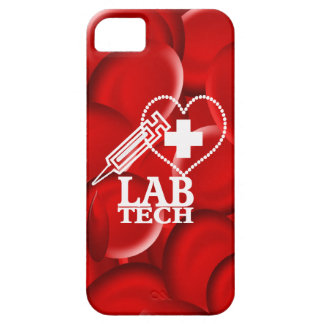 LAB TECH HEART  SYRINGE LOGO BARELY THERE iPhone 5 CASE
