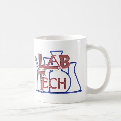 Lab Tech with Beakers and Flasks (Laboratory Tech) Coffee Mugs