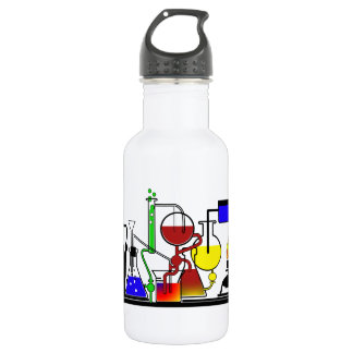 LAB WARE - LABORATORY  GLASSWARE MAD SCIENTIST 532 ML WATER BOTTLE