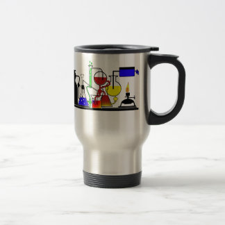 LAB WARE - LABORATORY  GLASSWARE MAD SCIENTIST STAINLESS STEEL TRAVEL MUG