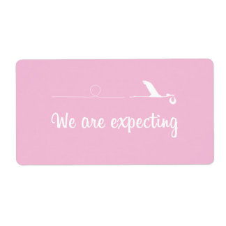 Label expecting girl shipping label