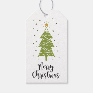 Label for gift Christmas Tree White