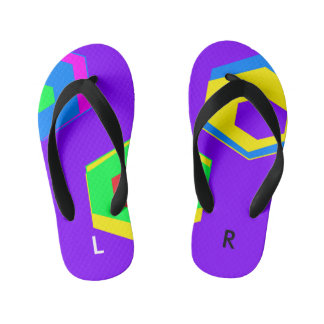 Labeled Customized Flip Flops, Toddlers/Kids Kid's Jandals