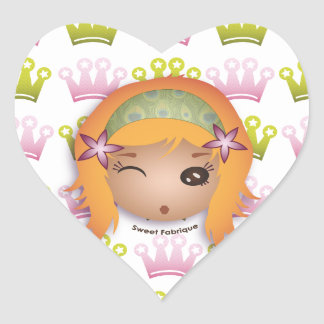 """Labels """"Miss Princess"""" - Collection Kiwi Fraud Heart Sticker"""
