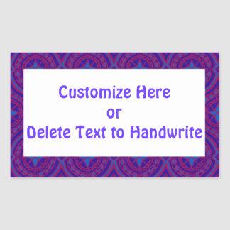 Labels to Customize, Chic Purple and Blue Pattern