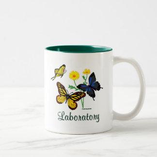 Laboratory Butterflies Two-Tone Coffee Mug