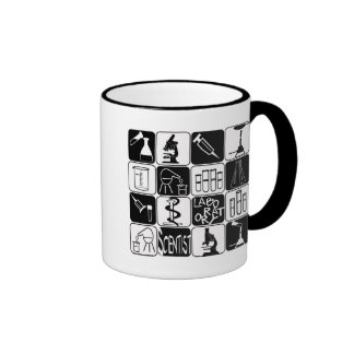 LABORATORY SCIENTIST SYMBOLS AND TOOLS RINGER MUG