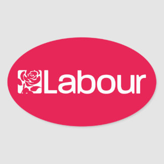 Labour Party UK Oval Sticker