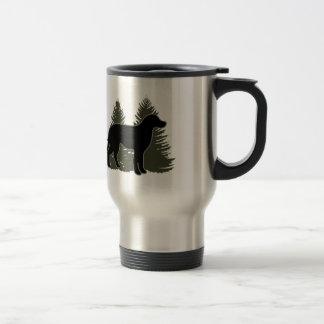 Labrador and Trees Stainless Steel Travel Mug