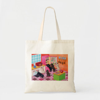 Labrador Kitchen Party Painting Tote Bag