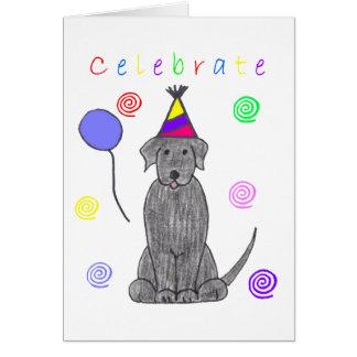 Labrador Retriever Black Celebrate Card
