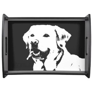 Labrador retriever Black Dog Perfume serving tray