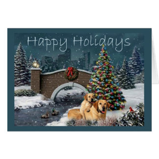 Labrador Retriever  Christmas Card Evening1