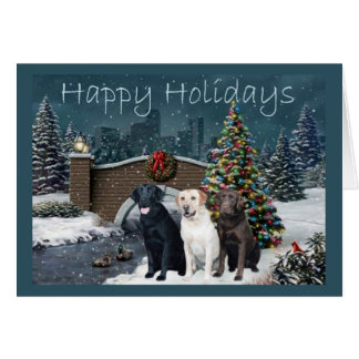 Labrador Retriever  Christmas Card Evening11