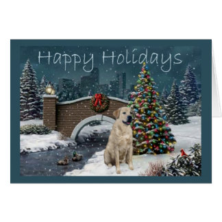 Labrador Retriever  Christmas Card Evening2