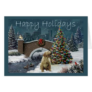 Labrador Retriever  Christmas Card Evening4