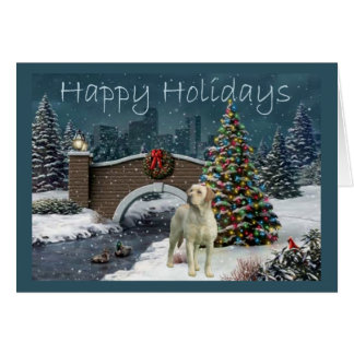 Labrador Retriever  Christmas Card Evening7