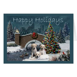 Labrador Retriever  Christmas Card Evening9