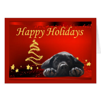 Labrador Retriever  Christmas Card Stars11
