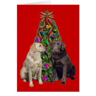 Labrador Retriever Christmas Card Tree
