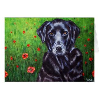 Labrador Retriever Dog Art - Poppy Card