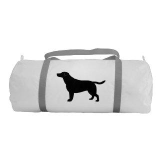 Labrador Retriever in Silhouette Gym Bag