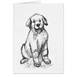 Labrador Retriever Pup Card